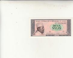 Banconota Deux Sylis  Uncirculed 1981 - Guinea