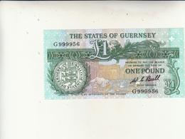 Guernsey Banconota One Pound Uncirculade - Guernesey