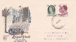 Australia 1963 Visit Of Queen Elizabeth II, WCS First Day Cover - FDC