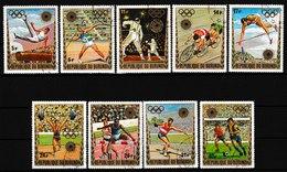 Série De 9 Timbres Oblitérés - Jeux Olympiques De Munich - N° 503/507-PA245/248 (Yvert) - Burundi 1972 - Burundi