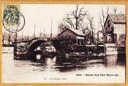 X39291 DÔLE 39-Jura Ruines D'un Pont Moyen-Age 1905s à Jeanne BROCARD 102-bis Rue Lepic Paris - Dole