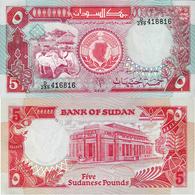 Sudan 1991 - 5 Pounds - Pick 45 UNC - Soudan