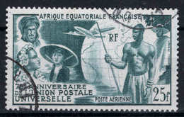 AEF  - 1949 - Anniversaire De L' U.P.U  - PA N° 54 - Oblit - Used - A.E.F. (1936-1958)