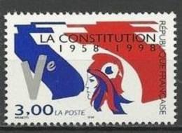 """FR YT 3195 """" Constitution De La Ve République """" 1998 Neuf** - France"""