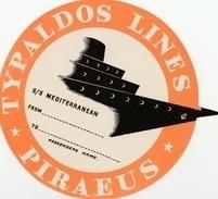 Paquebot S/S Mediterranean - Typaldos Lines Piraeus - étiquette Autocollante De Bagage - état ** - Boats