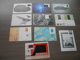 BELG.2004 3439/3448 Maxikaarten & Signé/getekend Door Luc Derycke (tekenaar) !!!! - FDC