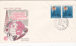 Australia 1965 Centenary Of ITU, WCS, FDC - FDC