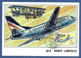 Carte / 80 ème Anniversaire De La 1 ère Liaison Aéropostale Nancy-Lunéville / 12 Novembre 1992 - Maximum Cards
