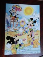 18441) DISNEY PIPPO TOPOLINO TOPOLINA PAPERINA ALLA SPIAGGIA NON VIAGGIATA - Disney