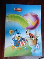 18442) DISNEY PIPPO E PAPERINA SU MONGOLFIERA E PAPERINO CON PARACADUTE NON VIAGGIATA - Disney