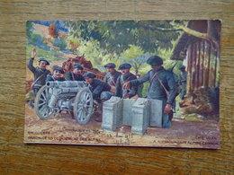 """Guerre De 1914 - 18 , Canon De 65 De Montagne Des Alpins """""""" Carte écrite Par Un Poilu Le 12 Mai 1915 """""""" - Guerre 1914-18"""