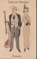 18/9/189 --TYPES  DE  TOURISTES  -  FRANÇAIS - Fancy Cards