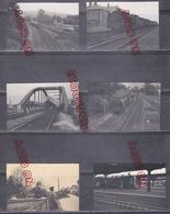Allemagne Offenburg Bade Wurtemberg 1952 La Gare Train Locomotive à Vapeur Wagon Pont - Trains