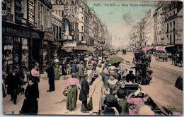 75004 PARIS - La Foule Sur Le Boulevard Saint Antoine. - Arrondissement: 04