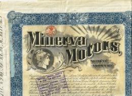 Minerva Motors / Coupons Partielement Coupés Jusqu'à 1928 - Automobile