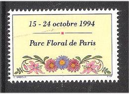 France  1994 Picture Field From Blocs   - Pure Floral De Paris And Le Salon Du Timbre, - Frankreich