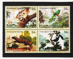 LVT166 UNO WIEN 2001 Michl 856/59 POSTPREIS 1,36 $ ** Postfrisch SIEHE ABBILDUNG - Wien - Internationales Zentrum