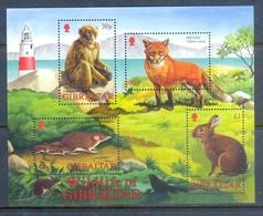 K160- Gibraltar 2002 Mammals Rabbit Monkeys Fox Rat. - Stamps