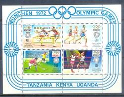 K163- Olympic Games 1972. Tanzania Kenya Uganda. Hockey. Boxing. Marathon Race. - Summer 1972: Munich