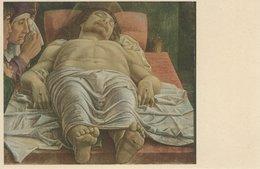 """Painting - Mantegna. """" Il Cristo Morto """" Italy.  S-4272 - Picture Cards"""