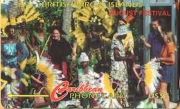Virgin Islands - GPT, MV: BVI-143G, 143CBVG , August Festival (Spanish), Cultural, 10.000ex, 1997, Used As Scan - Virgin Islands