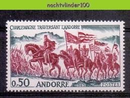 Mms001 FAUNA PAARDEN ZOOGDIEREN MAMMALS HORSES PFERDE CHEVAUX FRENCH ANDORRE 1963 PF/MNH # - Paarden