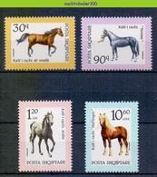 Mms003 FAUNA PAARDEN ZOOGDIEREN MAMMALS HORSES PFERDE CHEVAUX ALBANIA SHQIPTARE 1992 PF/MNH - Paarden