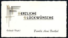 B5796 - Erlbach - Familie Arno Barthel - Visitenkarte Glückwunschkarte - Visitenkarten