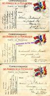 N°64780 -lot De 10 Correspondances Des Armées De La République - Guerre 1914-18