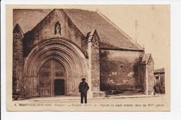CPA 85 BEAUVOIR SUR MER Grande Porte De L'église - Beauvoir Sur Mer