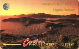 Antigua & Barbuda - ANT-13Da, 13CATD (a), English Harbour (CN On Silver), 15,007ex, 1995, Used As Scan - Antigua And Barbuda