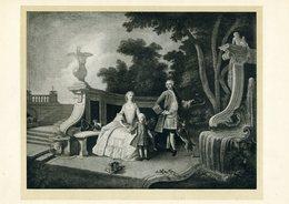 Jacques De Lajoue (?) - Couple Avec Enfant Et Chiens - Engravings
