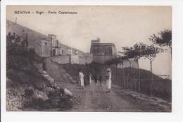CPA ITALIE GENOVA Righi Forte Castellaccio - Genova