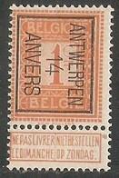 Antwerpen 1914 Typo Nr. 44B - Vorfrankiert