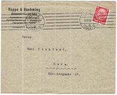 Deutsches Reich - 1933 - 12 - Hoppe & Roehming - Viaggiata Da Halle Per Gera - Storia Postale