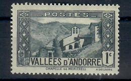 ANDORRA FR. -  1932/33 - VEDUTE. UN VALORE - MH* - Nuevos
