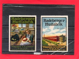 2 Vignettes Allemande ( Radeberger Hutfabrik ) - Erinnophilie
