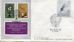 MALADIE - PALUDISME FDC 1962 JOUGOSLAVIE - Maladies
