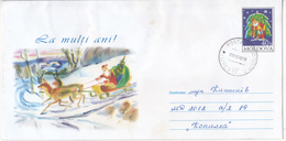 2002 , MOLDOVA , MOLDAVIE ,  MOLDAWIEN , MOLDAU , Christmas , Postal History , Used Pre-paid Envelope - Moldova