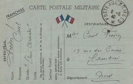 8 Mai 1940 / Carte Postale Militaire Française Vers Cambrai(Nord) -Poste Aux Armées Sans N° - WW II
