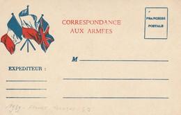 Correspondance Aux Armées -drapeaux Français-polonais Et Anglais -non écrite (propriétaire Au Verso Fait Prisonnier ?) - WW II