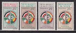 Série Coloniale - 1960 - Conseil De L' Entente - 4 Valeurs - Neuf ** - MNH - France (ex-colonies & Protectorats)