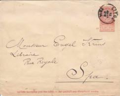 BELGIQUE - 1894 - Entier Postal (enveloppe) De Liège Pour La Spa - Covers