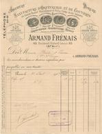 FACTURE 1909 Éts A. FRENAIS ORFÉVRERIE ARGENT DORURE RUOLZ MAILLEFORT BD RICHARD LENOIR PARIS 11 ème - France