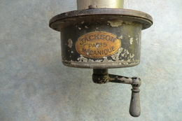 VERS 1900 ANCIEN KLAXON HYPOMOBILE TORPEDO. JACKSON PARIS MECANIQUE. Klaxon à Manivelle En Bois. - Voitures