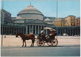 Napoli - HORSE & COACH - Piazza Plebiscito - (Italia) - Cartoline
