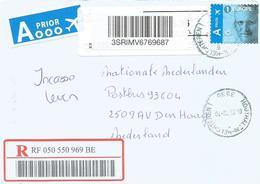 """Belgium Belgie 2018 Houthalen King Filip Meter Cognitive Solution """"Barcode Blaster"""" Label EMA Registered Cover - 2000-..."""