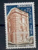 ANDORRA FR. -  1965 - CASA DI ANDORRA A PARIGI. - MNH** - Nuovi