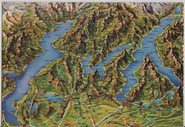 Lago Maggiore, Lago Di Lugano, Lago Di Como - Panorama Relief - TI Tessin