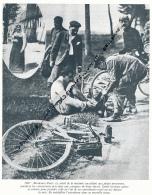 CYCLISME : PHOTO (1907), BORDEAUX-PARIS, EMILE GEORGET QUITTE SA CULOTTE POUR CELLE DE SES ENTRAINEURS !, COUPURE LIVRE - Cyclisme